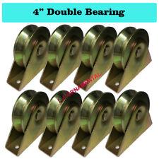 """V Groove Wheel 4"""" Double Bearing Heavy Duty Slide Driveway Gate Roller 8PCS"""