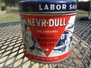 1941 NEVR - DULL Magic Wadding Tin Can with contents