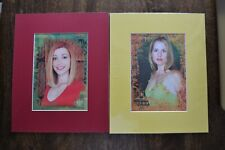 Buffy The Vampire Slayer: ''Anya'' & ''Willow''. A pair of Mounted Colour Prints