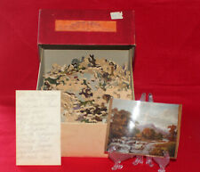 "ANT. JOSEPH K. STRAUS WOOD JIG SAW PUZZLE ""MURMURING WATERS"" 500+pcs w/ORIG BOX"