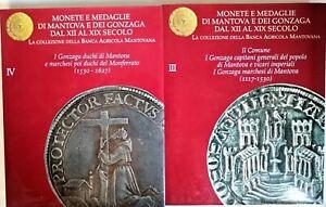 MONETE E MEDAGLIE DI MANTOVA E DEI GONZAGA DAL XII AL XIX SEC. - 8 VOL