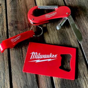 Milwaukee Tools Gift Pack   Light/pocket Knife Bottle Opener Keyring