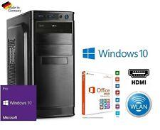 Office Komplett PC System Ryzen 4x 4,00GHz 16GB RAM 250GB SSD Windows 10 Pro|047