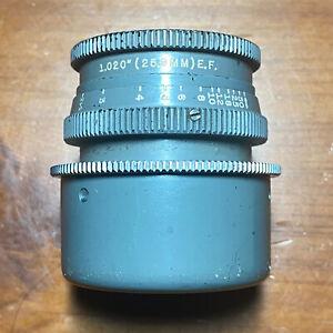 Wollensak FASTAX RAPTAR 25.4mm f2.5 Military Cine Lens *READ*
