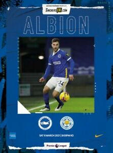 Brighton v Leicester 2020/21 ~ Premier League Programme 6/3/2021