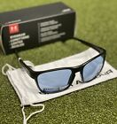 Under Armour Glimpse Satin Black Recovery Tuned Lens Sunglasses NEW #79787