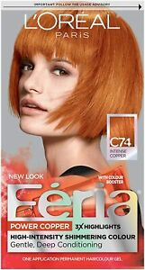 L'Oréal Paris Féria Power Coper Hair Color, C74 Intense Copper (Copper Crave)