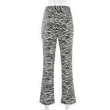 Women's Zebra Print Pant Trousers Casual Long Pants C9R4