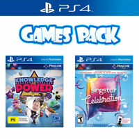 Playstation 4 Game Bundle Knowledge is Power & Singstar Celebration PS4 Playlin