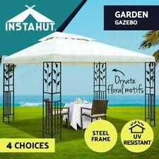 Instahut Gazebo 3x3 4x3 Marquee Outdoor Party Wedding Gazebos Tent Iron Art