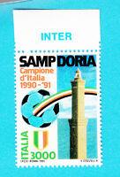 ITALIA SAMPDORIA CAMPIONE D'ITALIA CALCIO 1990 / 1991 APPENDICE INTER  MNH **