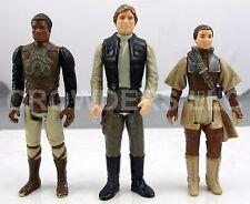 Vintage Star Wars '82 Skiff Guard Lando '83 Boushh Disguise Leia & '84 Han Solo