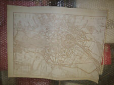 Berlin and environs map Italy DISPATCH ATLAS 1863engraved T.Ettling Framed40more