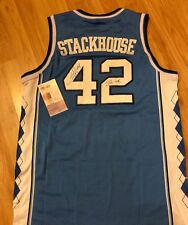 RARE JERRY STACKHOUSE SIGNED AUTOGRAPHED NORTH CAROLINA JERSEY PHOTO PROOF JSA