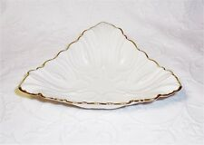 Lenox China Triad Coll. 24Kt Gold Trim Ivory 7.25 in. Per Side Triangle Bowl Usa