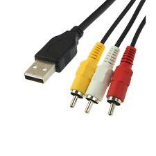 USB Stecker auf RCA 3 Cinch Stecker für Audio und Video / Länge 1,5m