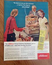 1956 National Cash Register Ad  National Cash Registers Figuring Correct Change
