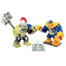 Marvel Avengers INFINITY WAR END Thanos Gauntl VS HULK Thor Minifigures Fit Lego