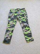 NEW WOMEN'S KARDASHIAN KOLLECTION CAMO CAMOUFLAGE SKINNY JOGGER PANTS SIZE 12