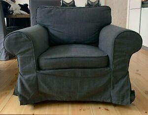 Sessel Grau104x88x88 IKEA (EKTORP) - good condition