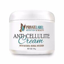 Organic Anti-Cellulite Cream Treat Flabby Skin Slimmer Body Healthier Skin 4oz