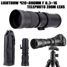Lightdow 420-800mm F/8.3-16 Telephoto Manual Zoom Lens for Camera Nikon DSLR
