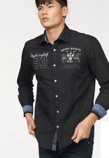 bruno banani Camisa de hombre talla S negro alta calidad original moda