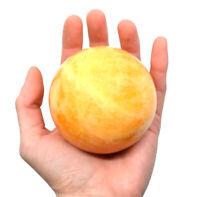 "Warm Orange Calcite Stone Aura Sphere, 3"" - The Artisan Mined Series by hBAR"