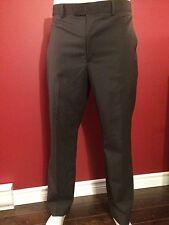A[X]IST Men's Ultra Series Charcoal Striped Dress Pant - Size 36W x 30L - NWT$60