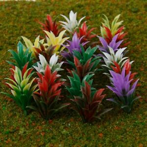 12pcs Miniature Mixed Colours Agaves Plants Fairy Garden Terrarium Bonsai Model