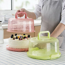 Portable Cake Storage Box Round BirthdayKitchen Wedding  BakingHolder Well