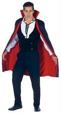 Adulte Noir & Rouge 96.5cm Cape Debout Col Comte Dracula Vampire UR29462