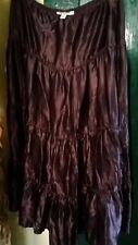 Miss Shop Burgundy 100% Silk Skirt -Size 10