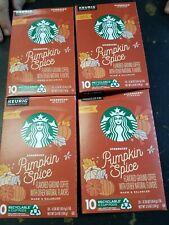 STARBUCKS Pumpkin Spice Flavored Coffee 4 box of 10 K-Cup Single Serve Pods NEW