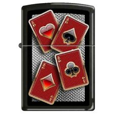 Well Suited Licorice Finished Poker ZIPPO LIGHTER 48878