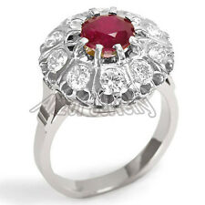 Russian Style Genuine Ruby & Diamond Ring Russian Jewelry 585 14k #R1316