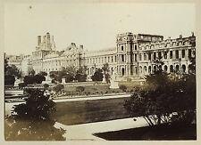 PHOTO VINTAGE COMMUNE 1871 : FACADE DES TUILERIES
