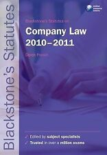 Blackstone's Statutes on Company Law 2010-2011 by French, Derek