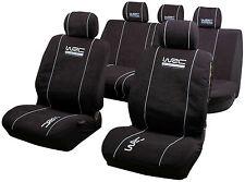 WRC set fodere anteriore/posteriore 2/3-1/3 universali nere con poggia-testa