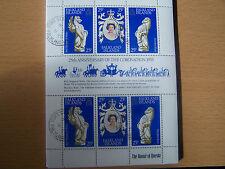 Falkland Islands,25Th Anniv Of The 1953 Qe11 Coronation,Sheetlet,F/Use d.