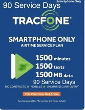 TracFone Refill Card 1500 Minutes/ 1500 Text/ 1.5 GB Data 90 Service Days Plan