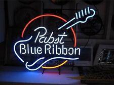 "Pabst Blue Ribbon Guitar Music Art Beer Bar Pub Neon Sign 22""x18"" [High Quality]"