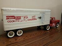 Vintage Structo Flavor Kist Cookies Semi Truck Trailer RARE! All Original! 1960s
