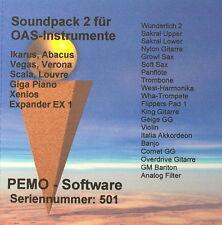 PEMO Software Soundpack 2 für Wersi OAS Instrumente