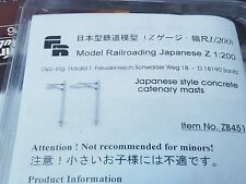 FR ZB451 New Style Japanese 12 Catenary masts kit scale 1:200