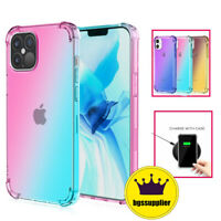 For iPhone 12 Pro Max 12 Mini 11 Clear Case Shockproof Slim Silicone Phone Cover