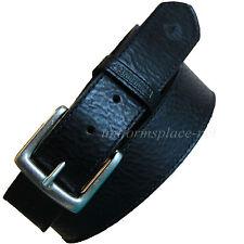 "Wolverine Stitched Leather Belt Men's 1 1/2"" Black Work Belts WV7659 W/  Buckle"