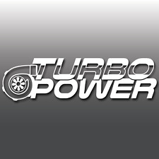 TURBO POWER Funny Car Van Window Bumper Vinyl Decal Sticker Euro DUB JDM Boost