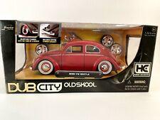 JADA TOYS 1:24 DUB CITY OLDSKOOL 1959 VW BEETLE RED HOBBY EXCLUSIVE *RARE VHTF