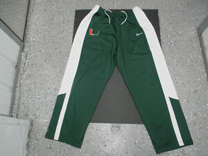 VINTAGE NIKE UM MIAMI HURRICANES SEWN 4XL BASKETBALL TEAM ISSUED WARM PANTS NWT
